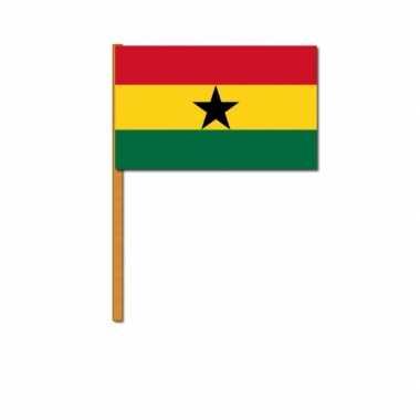 Polyester zwaaivlag ghana