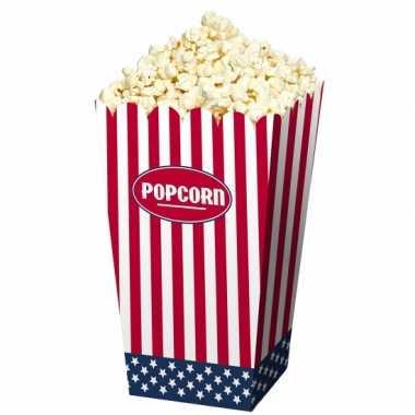 Popcornbakjes papier usa 4 stuks
