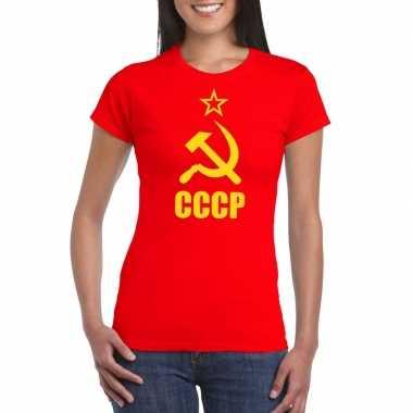 Rood cccp / sovjet unie t shirt dames