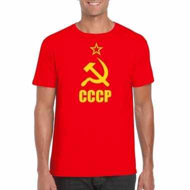 Rood cccp / sovjet unie t shirt heren