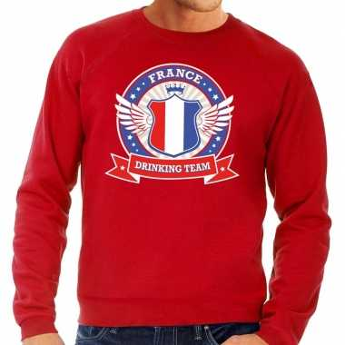 Rood france drinking team sweater heren