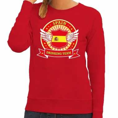 Rood spain drinking team sweater dames