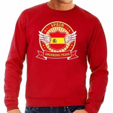 Rood spain drinking team sweater heren
