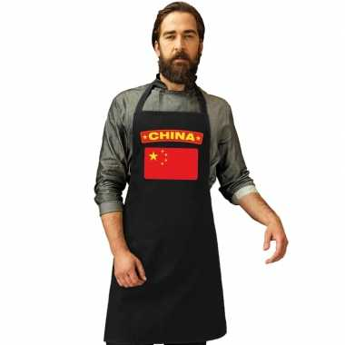 Schort chinees restaurant vlag china
