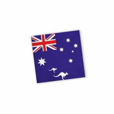 Servetten vlag australie 40x