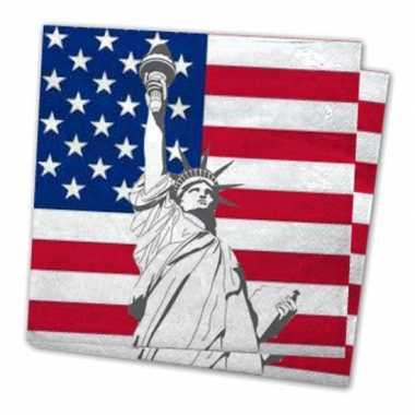 Servetten vlag verenigde staten 40x stuks