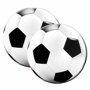 Servetten vorm een voetbal