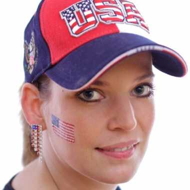 Set 4x stuks landen vlag tattoo amerika 2 6 4 5