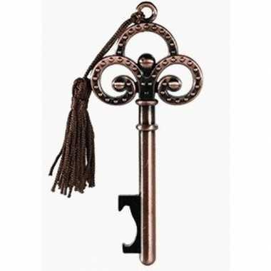 Sleutel flesopener brons 10