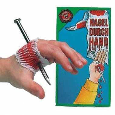 Spijker wond hand