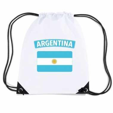 Sporttas rijgkoord vlag argentinie