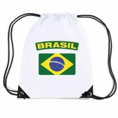Sporttas rijgkoord vlag brazilie