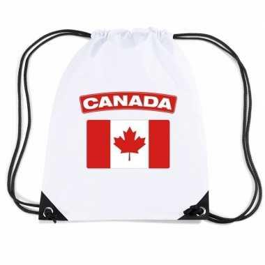 Sporttas rijgkoord vlag canada