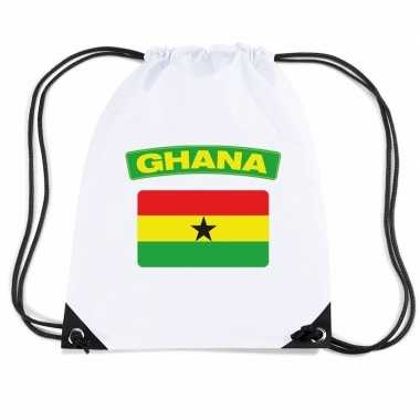 Sporttas rijgkoord vlag ghana