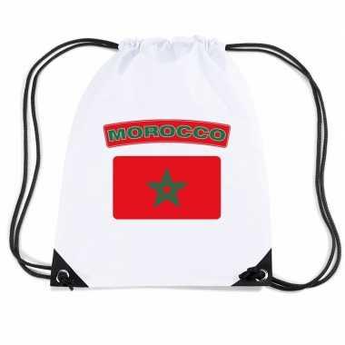 Sporttas rijgkoord vlag marokko