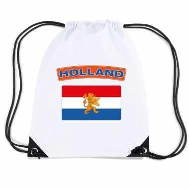 Sporttas rijgkoord vlag nederland