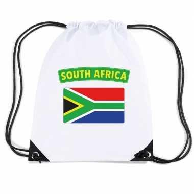 Sporttas rijgkoord vlag zuid afrika