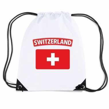 Sporttas rijgkoord vlag zwitserland