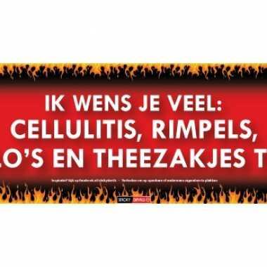 Sticky devil stickers tekst cellulitis