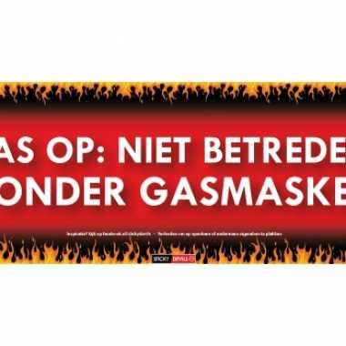 Sticky devil stickers tekst gasmasker