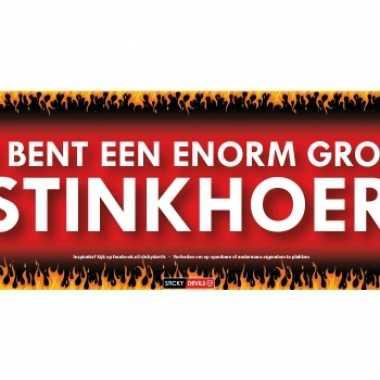 Sticky devil stickers tekst stinkhoer