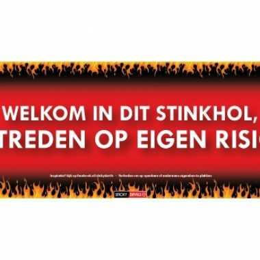 Sticky devil stickers tekst stinkhol