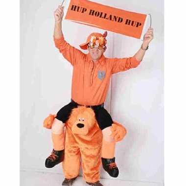 Supporter oranje leeuw kostuum