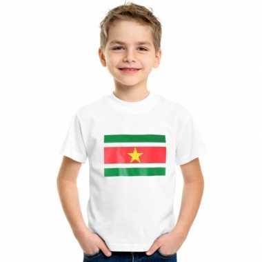 Suriname vlaggen t shirts kinderen