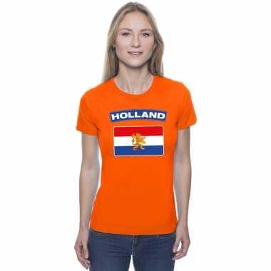 T shirt oranje nederland vlag oranje dames