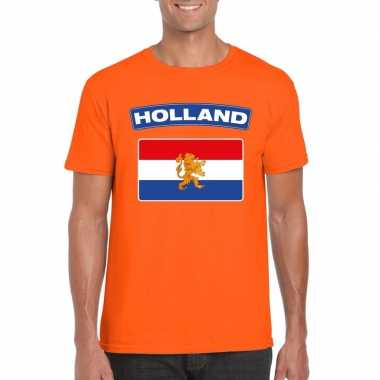 T shirt oranje nederland vlag oranje heren