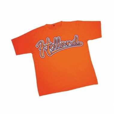 T shirt oranje tekst holland