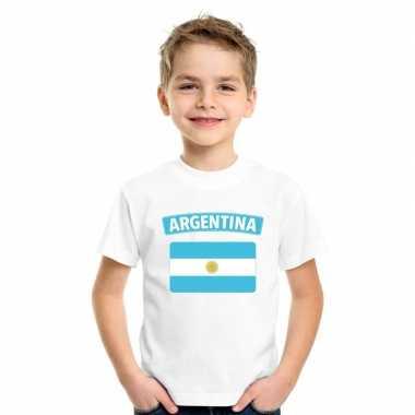 T shirt wit argentinie vlag wit jongens meisjes