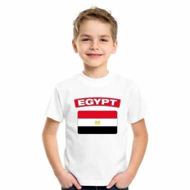 T shirt wit egypte vlag wit jongens meisjes