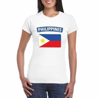 T shirt wit filipijnen vlag wit dames