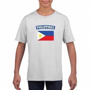 T shirt wit filipijnen vlag wit jongens meisjes