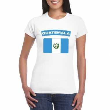 T shirt wit guatemala vlag wit dames