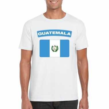 T shirt wit guatemala vlag wit heren