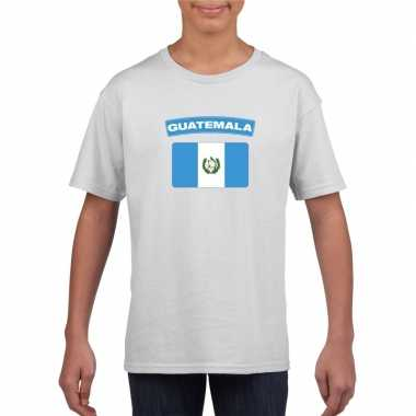 T shirt wit guatemala vlag wit jongens meisjes