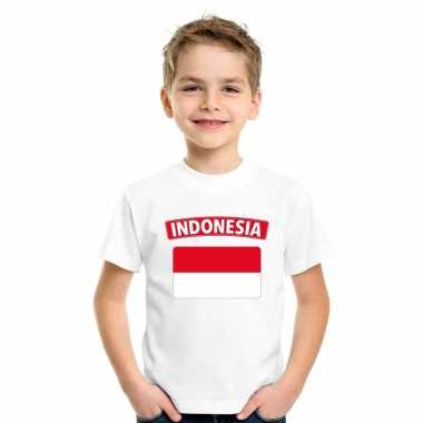 T shirt wit indonesie vlag wit jongens meisjes