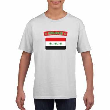 T shirt wit irak vlag wit jongens meisjes