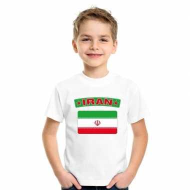 T shirt wit iran vlag wit jongens meisjes