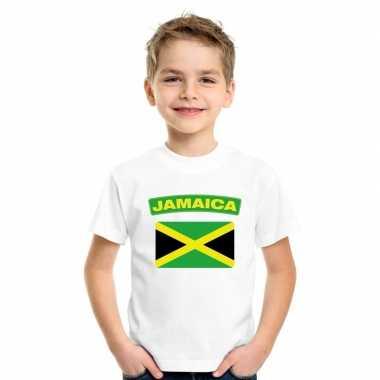 T shirt wit jamaica vlag wit jongens meisjes