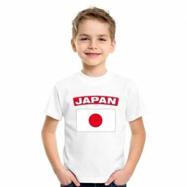 T shirt wit japan vlag wit jongens meisjes
