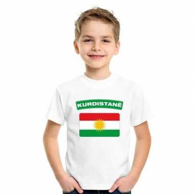 T shirt wit koerdistan vlag wit jongens meisjes