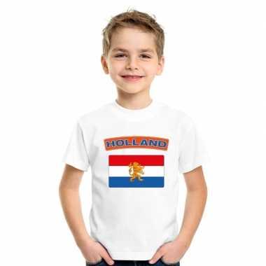 T shirt wit nederland vlag wit jongens meisjes