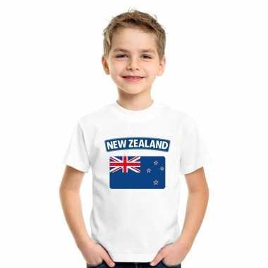 T shirt wit nieuw zeeland vlag wit jongens meisjes
