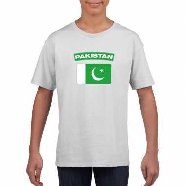 T shirt wit pakistan vlag wit jongens meisjes