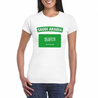 T shirt wit saudi arabi? vlag wit dames
