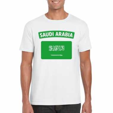 T shirt wit saudi arabi? vlag wit heren