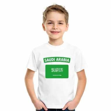 T shirt wit saudi arabie vlag wit jongens meisjes